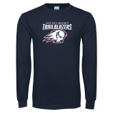 Navy Long Sleeve T Shirt-Dixie State University Trailblazers