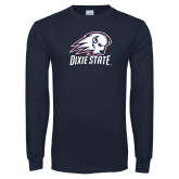 Navy Long Sleeve T Shirt-Dixie State