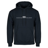 Navy Fleece Hoodie-CHASS Stacked Two Line