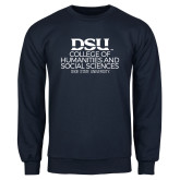 Navy Fleece Crew-CHASS with University Name Stacked