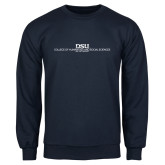 Navy Fleece Crew-CHASS with University Name Stacked Two Line