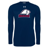 Under Armour Navy Long Sleeve Tech Tee-Dixie State Trailblazers