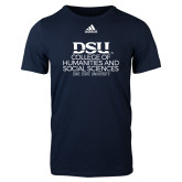 Adidas Navy Logo T Shirt-CHASS with University Name Stacked