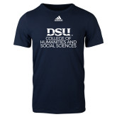 Adidas Navy Logo T Shirt-CHASS Stacked