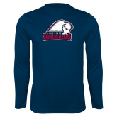Performance Navy Longsleeve Shirt-Dixie State Trailblazers