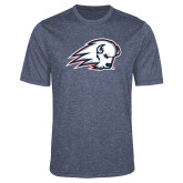 Performance Navy Heather Contender Tee-Secondary Logo