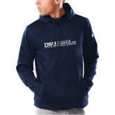 Under Armour Navy Armour Fleece Hoodie-CHASS with University Name Horizontal