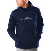 Under Armour Navy Armour Fleece Hoodie-CHASS with University Name Stacked Two Line