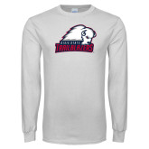 White Long Sleeve T Shirt-Dixie State Trailblazers