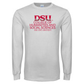 White Long Sleeve T Shirt-College of Humanities and Social Sciences