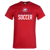 Red T Shirt-Soccer Graphic