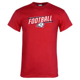Red T Shirt-Football Graphic