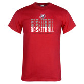 Red T Shirt-Basketball Graphic