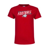 Youth Red T Shirt-Football Graphic
