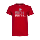 Youth Red T Shirt-Basketball Graphic