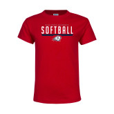 Youth Red T Shirt-Dixie State Softball
