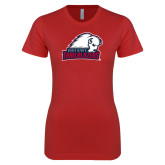 Next Level Ladies SoftStyle Junior Fitted Red Tee-Dixie State Trailblazers