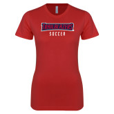 Next Level Ladies SoftStyle Junior Fitted Red Tee-Sport 5