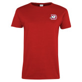 Ladies Red T Shirt-Primary Logo