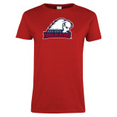 Ladies Red T Shirt-Dixie State Trailblazers