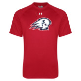 Under Armour Red Tech Tee-Secondary Logo