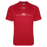 Under Armour Red Tech Tee-CHASS with University Name Stacked Two Line