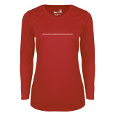 Ladies Syntrel Performance Red Longsleeve Shirt-CHASS One Line