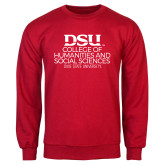 Red Fleece Crew-CHASS with University Name Stacked