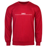 Red Fleece Crew-CHASS Stacked Two Line