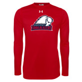 Under Armour Red Long Sleeve Tech Tee-Dixie State Trailblazers