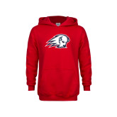 Youth Red Fleece Hoodie-Secondary Logo