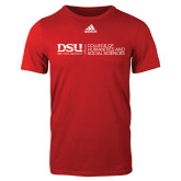 Adidas Red Logo T Shirt-CHASS with University Name Horizontal