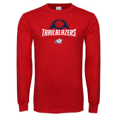 Red Long Sleeve T Shirt-Trailblazers Soccer