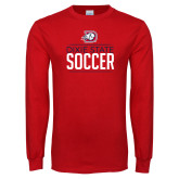 Red Long Sleeve T Shirt-Soccer Graphic