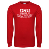 Red Long Sleeve T Shirt-College of Humanities and Social Sciences