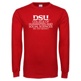 Red Long Sleeve T Shirt-CHASS with University Name Stacked