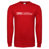 Red Long Sleeve T Shirt-CHASS with University Name Horizontal