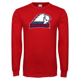 Red Long Sleeve T Shirt-Dixie State Trailblazers