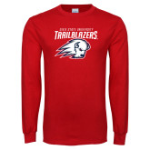 Red Long Sleeve T Shirt-Dixie State University Trailblazers