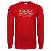 Red Long Sleeve T Shirt-DSU Graphic