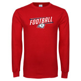 Red Long Sleeve T Shirt-Football Graphic
