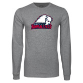 Grey Long Sleeve T Shirt-Dixie State Trailblazers
