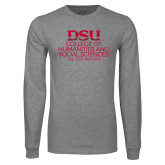 Grey Long Sleeve T Shirt-College of Humanities and Social Sciences
