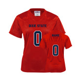 Dixie Ladies Red Replica Football Jersey-Personalized