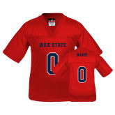 Dixie Youth Replica Red Football Jersey-Personalized