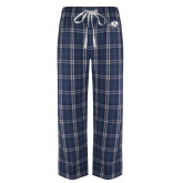 Navy/White Flannel Pajama Pant-Secondary Logo