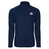 Sport Wick Stretch Navy 1/2 Zip Pullover-Primary Logo