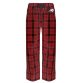 Red/Black Flannel Pajama Pant-Secondary Logo