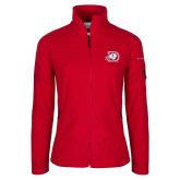 Columbia Ladies Full Zip Red Fleece Jacket-Primary Logo
