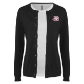 Ladies Black Cardigan-Primary Logo